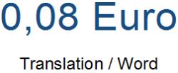 Translation Price